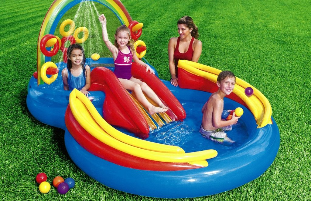 Intex Rainbow Ring Inflatable Play Center For Ages 2