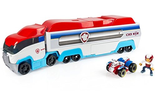 The Paw Patroller includes Ryder's ATV vehicle and holds 3 Paw Patrol vehicles inside
