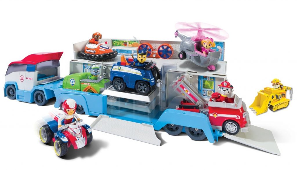 Paw Patrol paw patroller vehicle can store 3 vehicles
