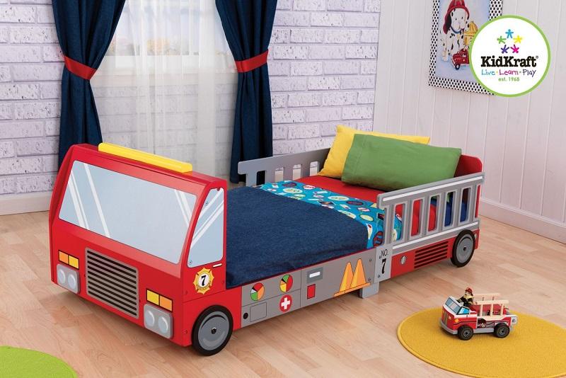 Fire Truck Toddler Bed | Kids Bedroom Ideas #kidsbeds