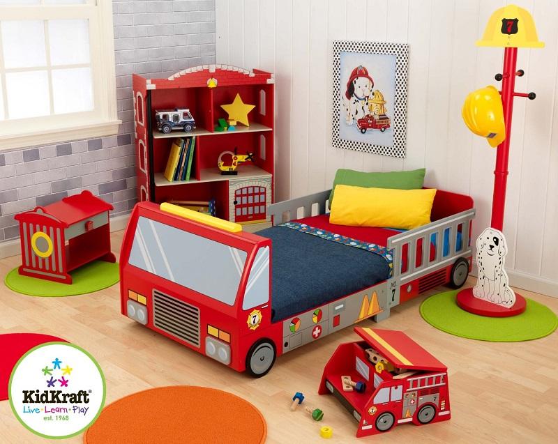 Fire Truck Toddler Bed | Kids Bedroom Ideas | Unique Toddler Beds #toddlerbeds