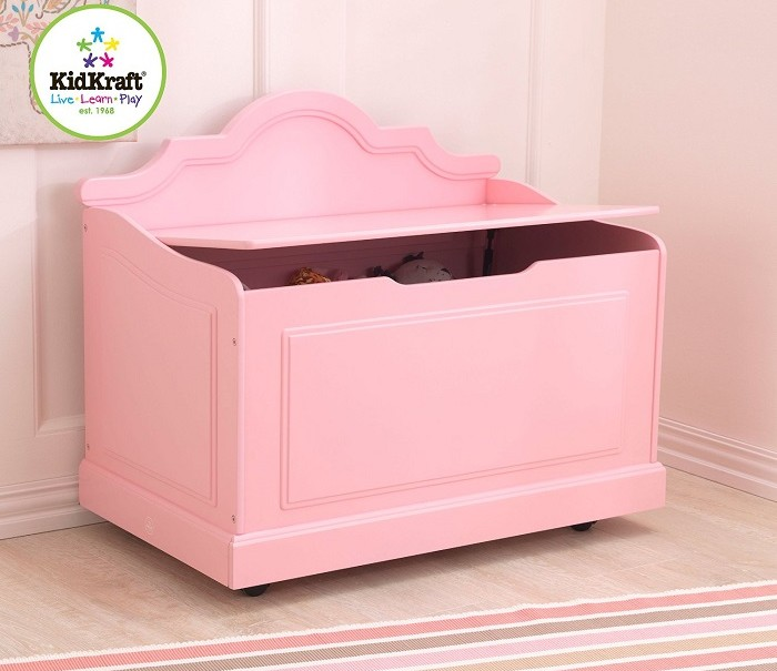 pink toy box kidsdimension. Black Bedroom Furniture Sets. Home Design Ideas