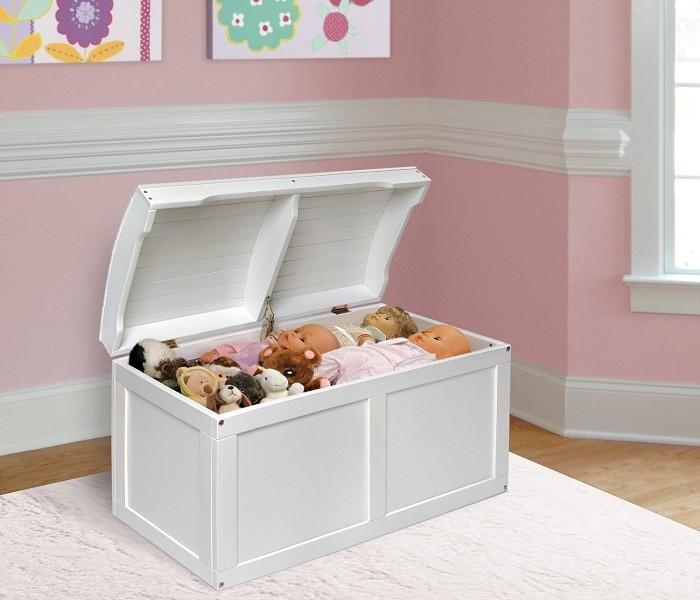 white toy box kidsdimension. Black Bedroom Furniture Sets. Home Design Ideas