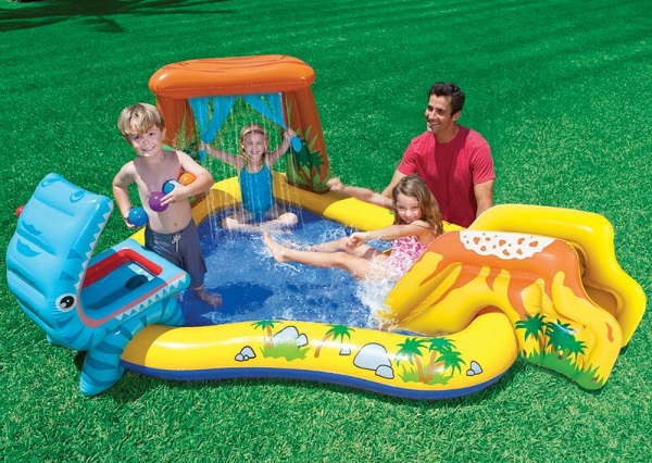 Intex dinosaur inflatable play center kidsdimension for Children s garden pools
