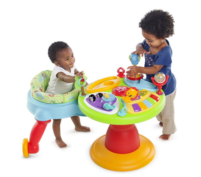 bright starts around we go 3 in 1 activity center zippity zoo review kidsdimension. Black Bedroom Furniture Sets. Home Design Ideas