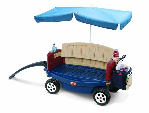 Deluxe Ride and Relax Wagon with Umbrella by Little Tikes