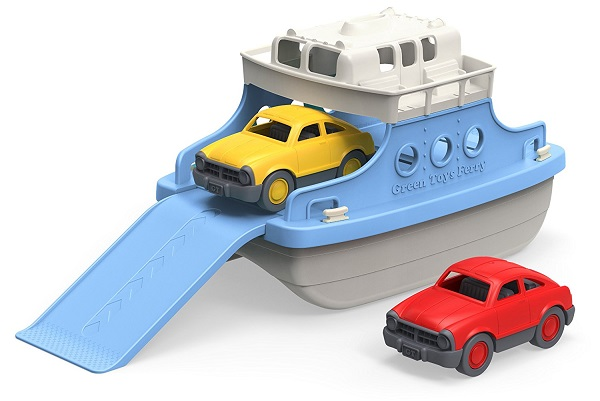 Ferry Boat with Mini Cars Bathtub Toy By Green Toys