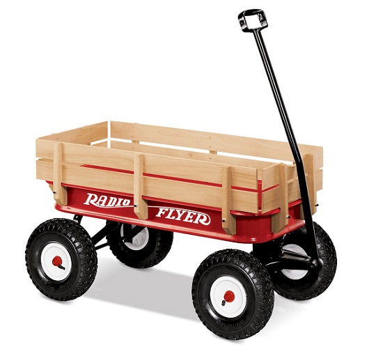 Full Size All-Terrain Steel and Wood Wagon by Radio Flyer