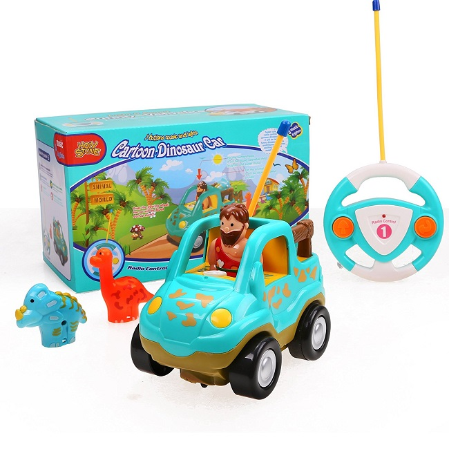 Holy Stone Cartoon RC Dinosaur Car-Best Toy Cars For Toddlers
