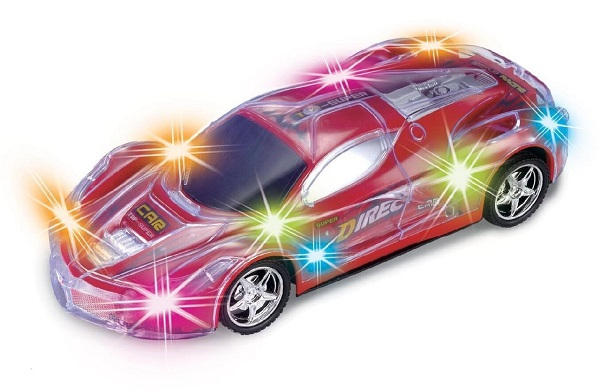 Light Up RC Car for Kids with Spectacular Flashing LED Lights by Haktoys
