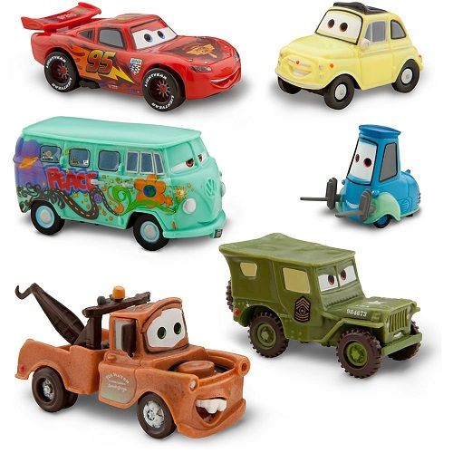 Lightning McQueen Pit Crew - 6 Figure Play Set By Disney Pixar Cars