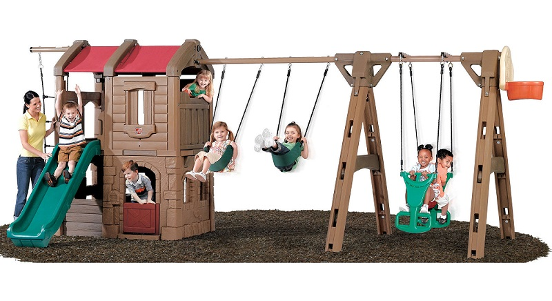 Step2 Naturally Playful Adventure Lodge Play Center - Best Outdoor Playhouses