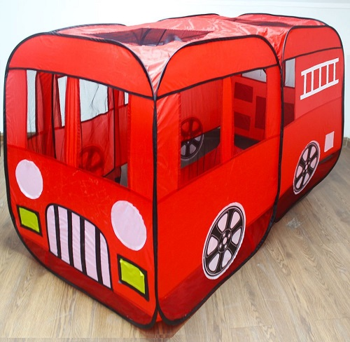 Red Fire Engine Truck Play Tent