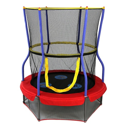 Round Bouncer Trampoline with Enclosure By Skywalker Trampolines