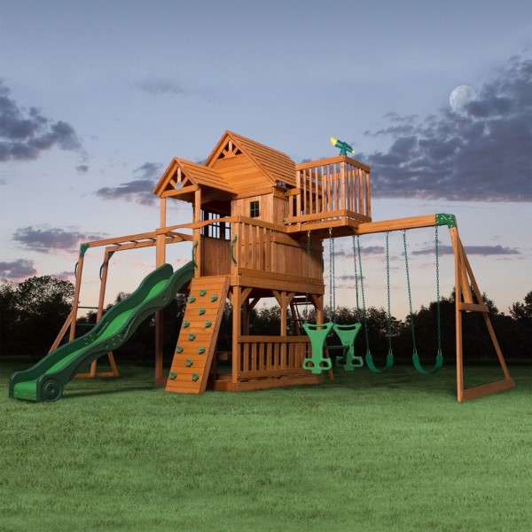 Skyfort II All Cedar Swing Set - Best Outdoor Playsets