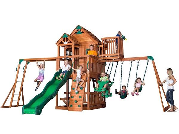 Skyfort II All Cedar Wood Swing Playset by Backyard Discovery