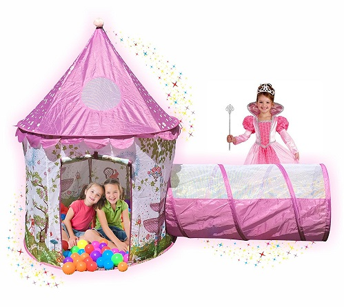 Sunroof Princess Castle Play Tent with Tunnel