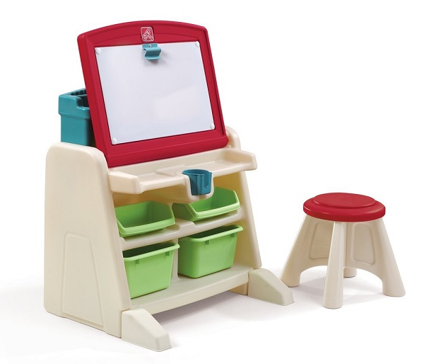 Flip and Doodle Desk with Stool Easel by Step2