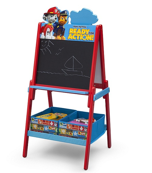 Paw Patrol Wooden Double Sided Activity Easel with Storage by Delta Children - Best Easels For Toddlers