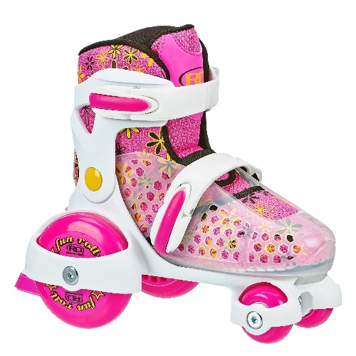 Girl's Fun Roll Adjustable Roller Skate by Roller Derby - Roller Skates For Kids