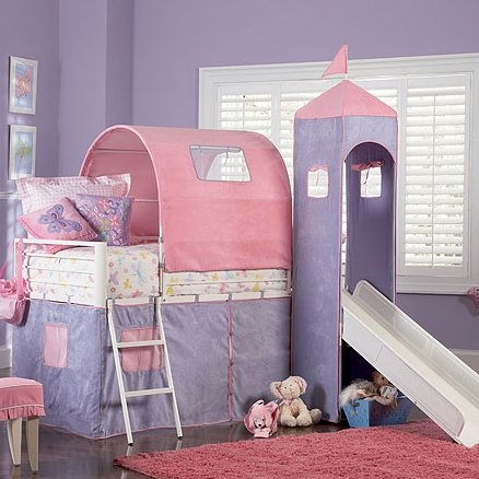 Arlo Princess Loft Bed - Loft Bunk Beds For Kids #bunkbedsforkids #loftbunkbeds