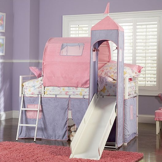 Arlo Princess Twin Loft Bed - Cool Bunk Beds For Girls