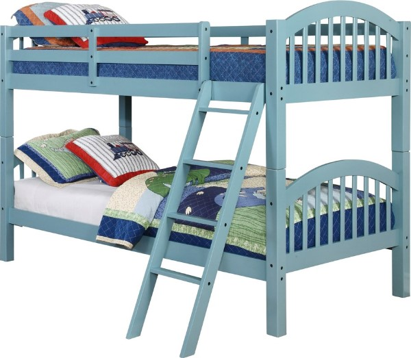Blue Twin over Twin Bunk Bed - Bunk Beds For Boys
