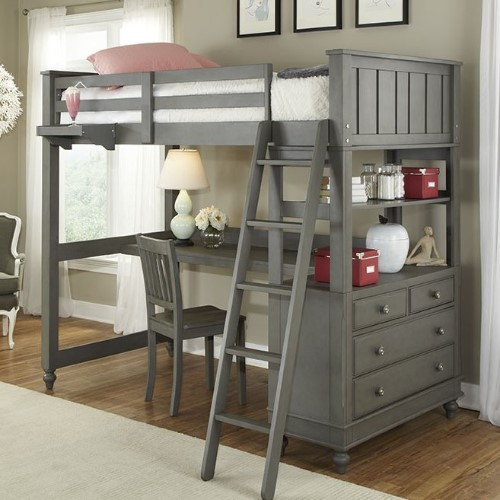 Hatcher Loft Bed - Loft Bunk Beds For Kids #bunkbedsforkids #loftbunkbeds