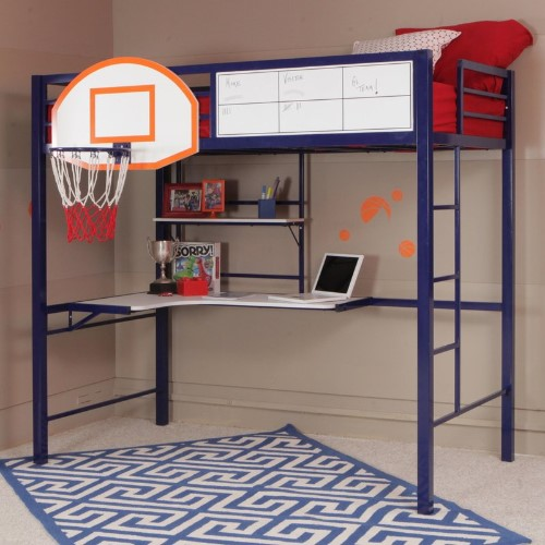 Basket Ball Twin Loft Bed - Bunk Beds For Boys
