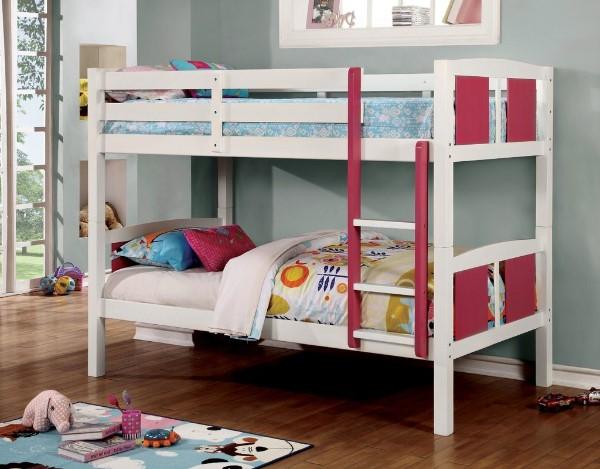 Rachel Twin Over Twin Bunk Bed - Kids Twin Over Twin Bunk Beds #bunkbeds #kidsbeds #kidsbedroom