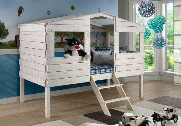 Tree House Twin Low Loft Bed - Bunk Beds For Boys