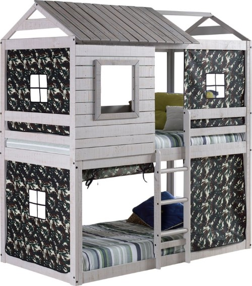 Twin Over Twin Bunk Bed - Kids Twin Over Twin Bunk Beds #bunkbeds #kidsbeds #kidsbedroom